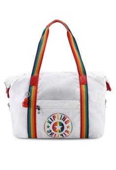 abca15a388 Kipling white ART M Rainbow White Tote Bag C86D8AC885A27EGS 1