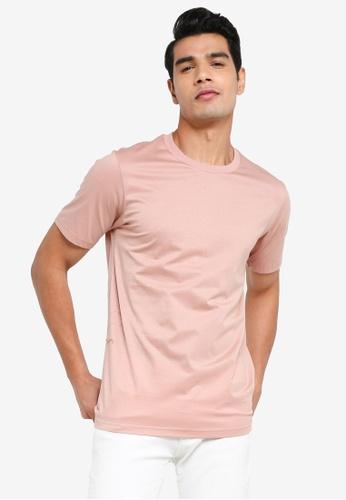 Urban Revivo pink Basic Short Sleeves T-Shirt 8430FAA4D955BBGS_1