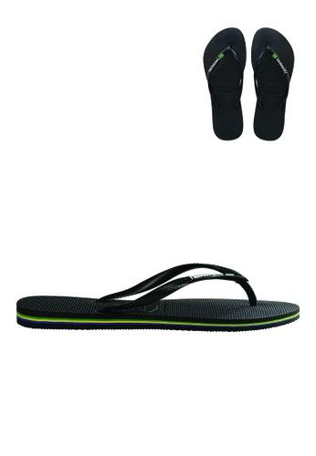 Havaianas Havaianas Women's Slim Brazil Sandals (Black) 218AASH642F2E6GS_1