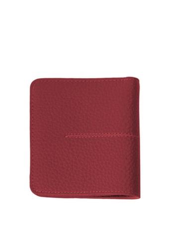 Twenty Eight Shoes red VANSA New Thin Bi-Fold Cow Leather Wallet VBW-Wt8808 10F26AC7F5195AGS_1