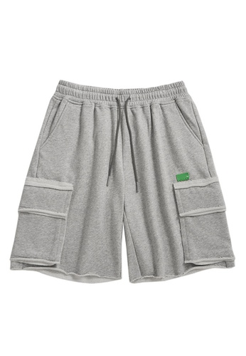 Twenty Eight Shoes grey Soft Knitted Sports Shorts 3674S21 76D41AA35DEAEBGS_1