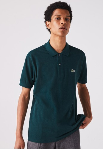 Lacoste green Men's Marl Lacoste L.12.12 Polo Shirt E0D56AACCD02E3GS_1