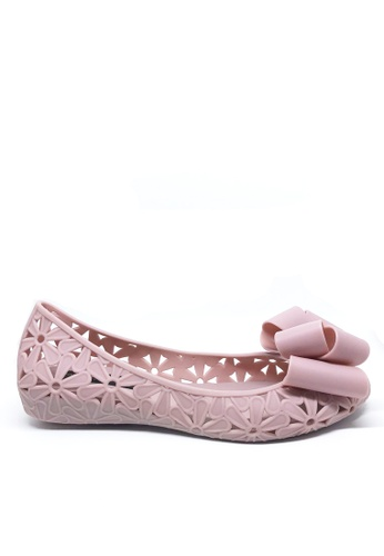 Twenty Eight Shoes pink Cutout Jelly Bow Ballerinas a820-5 3DB0CSH224960CGS_1