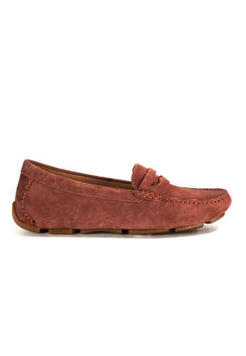 Shu Talk brown Amaztep Comfortable Penny Suede Leather Loafe 575E2SHC174F3FGS_1