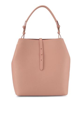 ZALORA pink Medium Size Hobo Bag C8459AC800473EGS_1