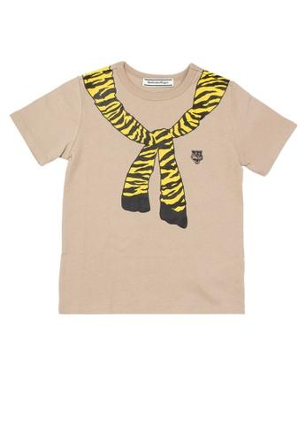 Onitsuka Tiger brown Kids Tee 6ED52KA8CC1ED6GS_1
