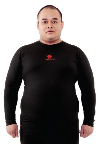 Tiento black Tiento Man Baselayer Big Size Baju Ketat Manset Olahraga Pria Long Sleeve Black Red Rashguard Sport Original 532DCAAA1FC5DCGS_1
