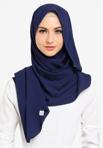 UMMA blue Fatima Basic Scarf E5FD3AA61C6023GS_1