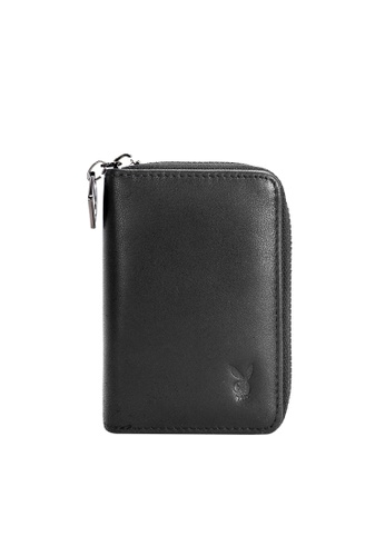 Playboy black Playboy Zipper Card Holder PL371AC0SK0ZMY_1