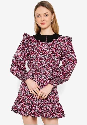 Miss Selfridge black Petite Black Collar Skater Dress 0416DAAB53965EGS_1