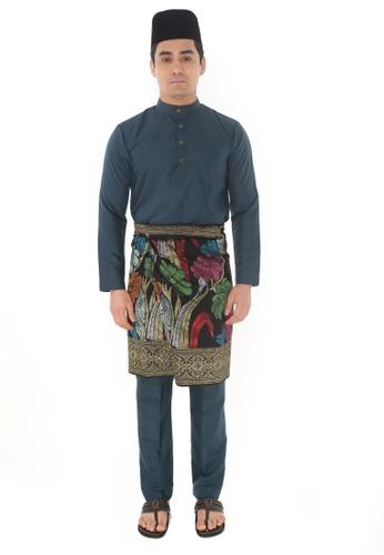 Amar Amran green Baju Melayu Raja Sehari 59B84AA93A55BFGS_1