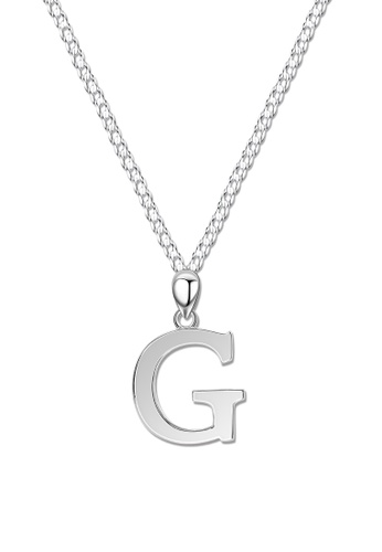 SC Tom Silver silver Letter Pendant with Chain SC872AC0J8CVPH_1