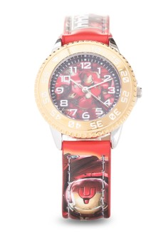Avengers Boys Leather Strap Watch TG-MV-3K2365U-004RD