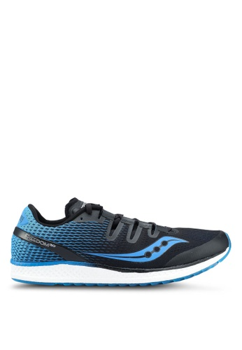 Saucony black and blue Freedom ISO Shoes SA304SH0SW52MY_1