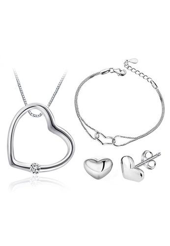 Buy Youniq Youniq Simple Love 925 Sterling Necklace Pendant With