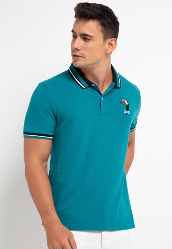 Giordano green Men's Bold Amazing Polo Shirt 23021AA12E947AGS_1