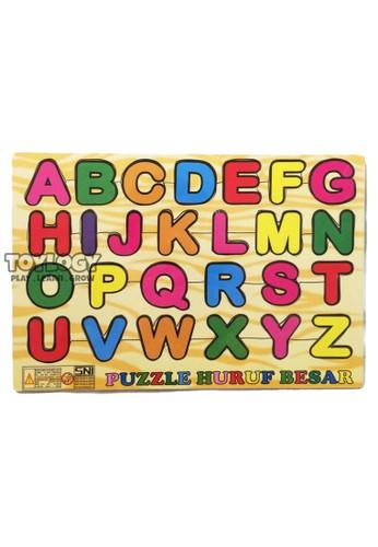 Toylogy multi Mainan Edukasi Anak Puzzle Kayu Abjad Alphabet Huruf Besar Kapital ABC C253ETHB27DA7FGS_1