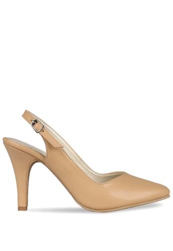CLAYMORE beige Claymore sepatu high heels B 704 T Cream CL635SH0UIYAID_1