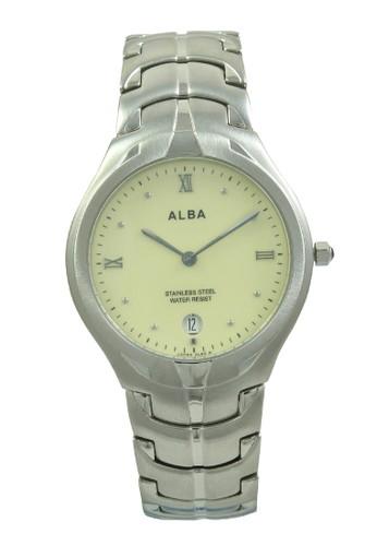 Alba silver ALBA Jam Tangan Pria - Silver Yellow - Stainless Steel - AVKB23 AL383AC0V4ZKID_1