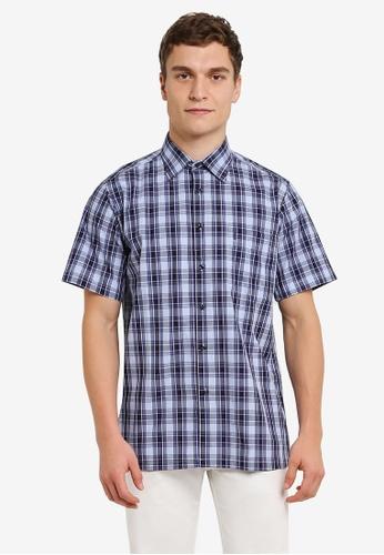 BGM POLO 多色 Checkered 短袖襯衫 BG646AA0S0KMMY_1