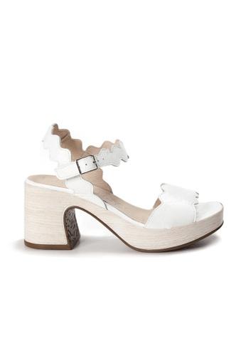Shu Talk white WONDERS Comfortable Patent Leather Platform Sandal Heels C44ACSHAFCB65FGS_1