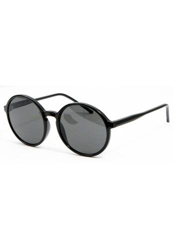 Sensolatino Eyewear Sensolatino Eyewear Made In Italy Mod Spinola Polished Black Frame With Black Lenses 4CAA6GL365E1D6GS_1