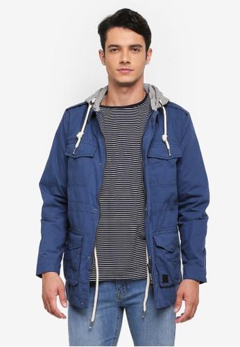 Indicode Jeans blue Portland Detachable Hoodie Field Jacket 18B3FAA489E508GS_1