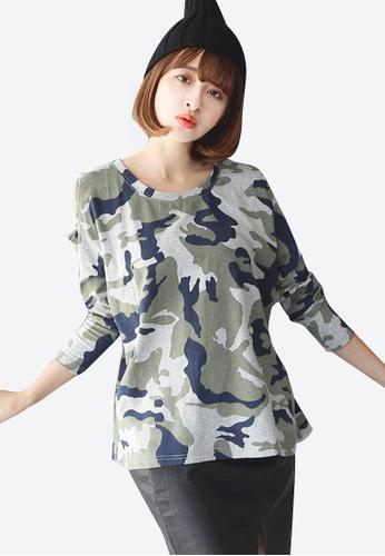 Sesura grey Camo Attraction Basic Pullover 870BCAAADE085CGS_1