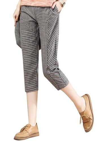 A-IN GIRLS multi Elastic Waist Stripe Trousers 2F1C3AABD6C479GS_1