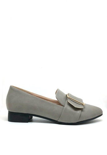 Twenty Eight Shoes grey Low Heel Button Loafers 426-4 AB2D0SHC468977GS_1