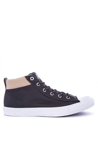 Converse black Chuck Taylor All Star Street Nylon Sneakers 661E8SH1D393BEGS_1