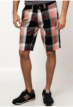 Checkered Chinos Short