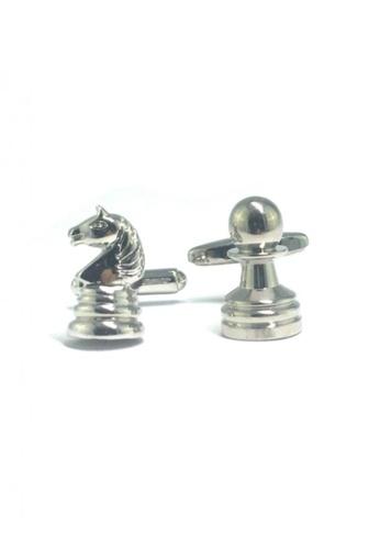 Splice Cufflinks silver Silver Knight and Pawn Chess Piece Cufflinks  SP744AC76ELZSG_1