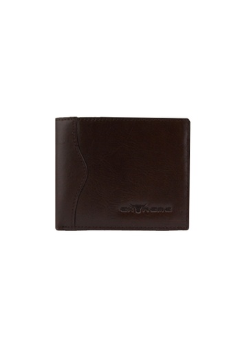 EXTREME brown Extreme Genuine Leather Wallet Bifold Middle Flap Multi Credit Slots Dark Brown 4DB47AC3EAD5C4GS_1