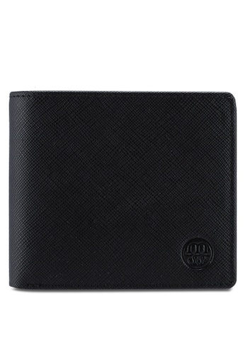 Massa Collections black Axodus Raven Black Wallet for Men 845BCAC03AD56AGS_1