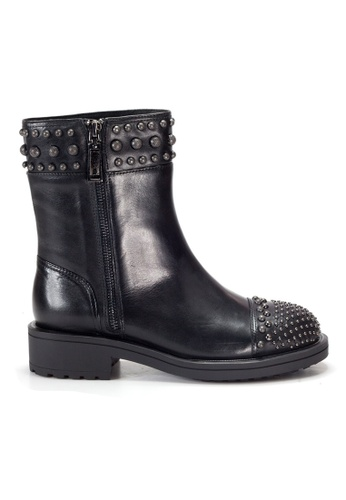 Shu Talk 黑色 Amaztep 型格易拉鏈短靴 CDCC1SH5058B69GS_1