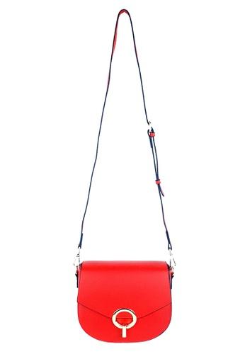BELLE LIZ 紅色 Leather Red Sling Crossbody Bag BC1D7AC7C5E767GS_1