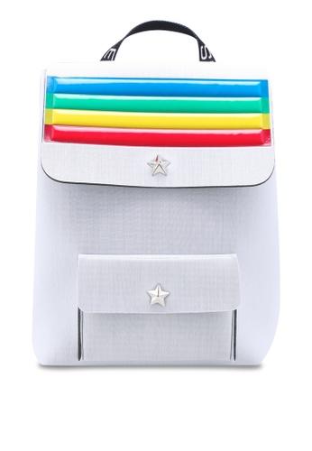 La Fille Des Fleurs white Alma Rainbow Backpack 35DA5AC34D3484GS_1
