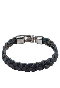 Men's Braided Leather Wristband