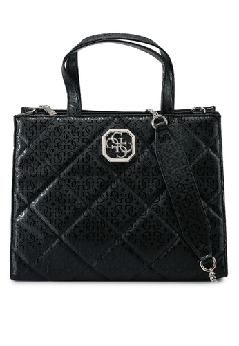 Guess black Dilla Elite Society Satchel Bag 20CBDAC5B3F0BDGS_1