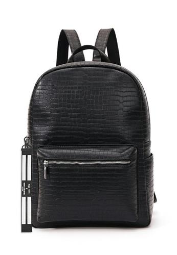 Twenty Eight Shoes black Crocodile Texture Faux Leather Backpack ET3951 75F6EACFB9B561GS_1