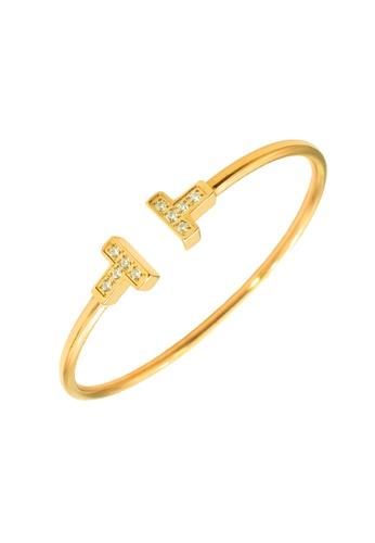 CELOVIS gold CELOVIS - Antoinette Zirconia Open Bangle in Gold 3E272ACC2136DFGS_1