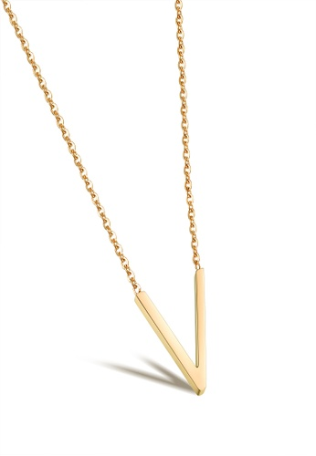 Sopistikada gold Veronica Stainless Steel Gold Necklace SO776AC0J95TPH_1