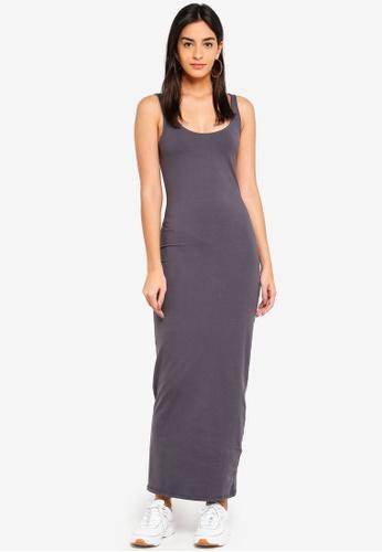 Supre grey Basic Maxi Dress 5766FAA2AC1F20GS_1