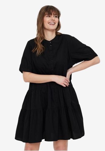 Vero Moda black Short Sleeve Mini Dress 2B996AAC03DC29GS_1