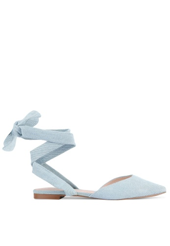 House of Avenues blue Lace-Up Flats HO685SH0RRB1MY_1