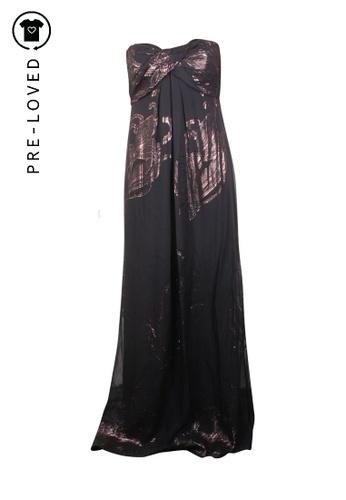 Nicole Miller black Pre-Loved nicole miller Silk Metallic Maxi  Dress 06AD8AAAAB2210GS_1