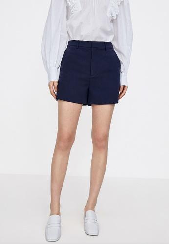 URBAN REVIVO blue Casual Shorts 704E1AADADC242GS_1