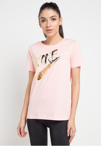 Nike pink and multi As W Nsw Top Ss Metallic Gx 1E942AA041BA4BGS_1