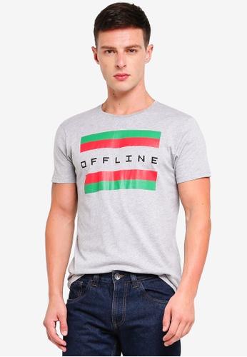 OVS 灰色 Cotton Short Sleeves T-Shirt 34E7AAA7A9BFF5GS_1